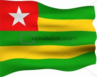 3D Flag of Togo