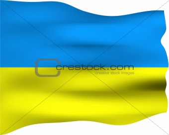 3D Flag of Ukraine