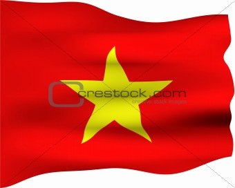 3D Flag of Vietnam