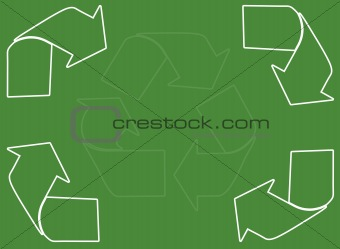 A green and white recycling page background