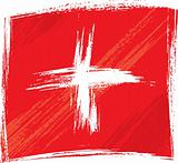 Grunge Switzerland flag