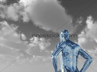 chrome man figure