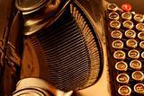Old typewriter in sepia