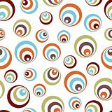 Retro vivid circles pattern