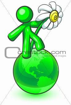 Green man flower power.