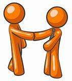 Orange Man Shaking Hands and Marketing