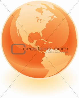 Bright Orange Globe