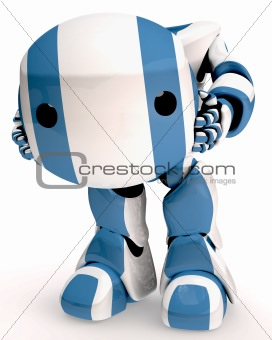 3d Robo Holding His Head