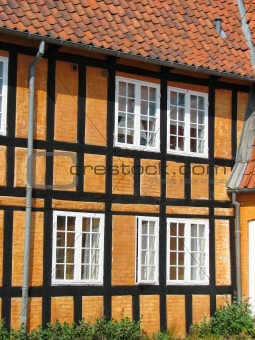 Half-timbered house in Faaborg