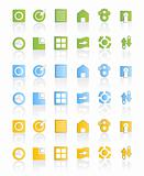 Modern web icon set