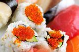 Sushi and california rolls