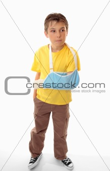 Boy in arm sling