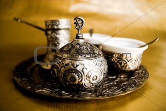 Antique Turkish Coffee Set