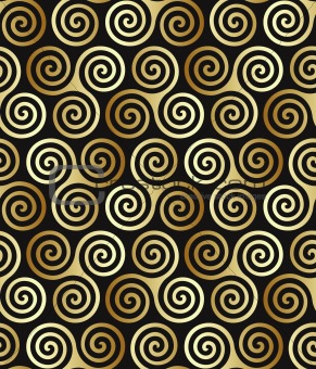 Seamless triple celtic spiral pattern