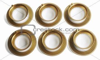 Six golden cups