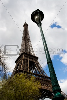Eiffel tower and Street lantern