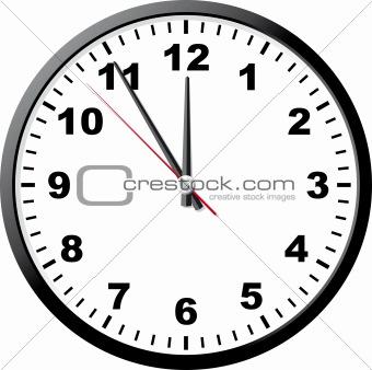 Office clock.