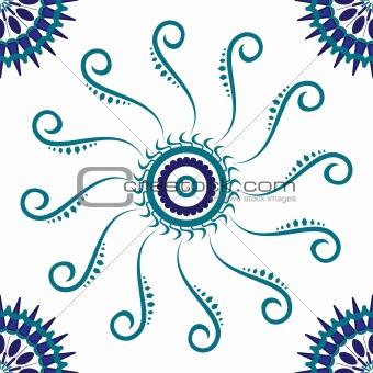 circular blue pattern