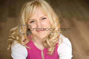 Portrait of the girl with light hair