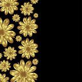 golden floral banner