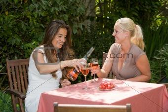Enjoying a glass of wine
