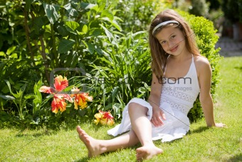 Adorable girl outdoors