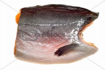 cutting salmon