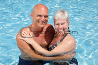 attractive couple enjoying holidays