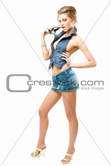 atractive girl posing