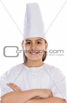 Adorable cook child