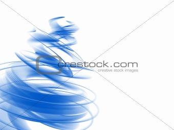 abstract blue swirl