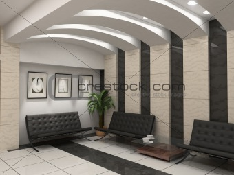 modern foyer interior