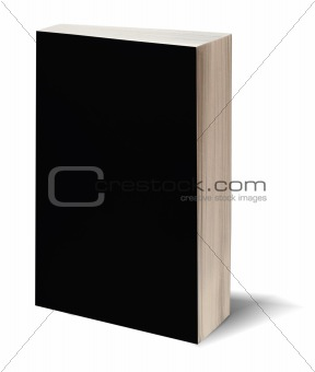 Blank black book w/path