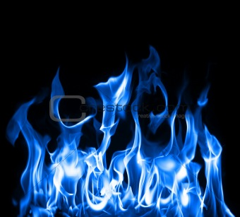 Blue flames