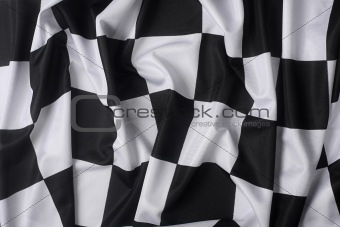 Real waving checkered flag