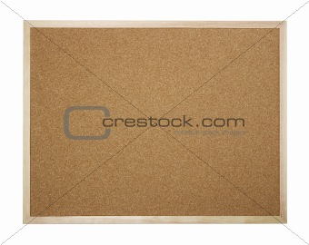 Blank cork board isolated on white
