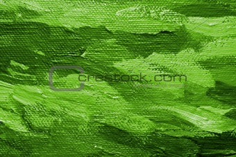 Green oil paint background