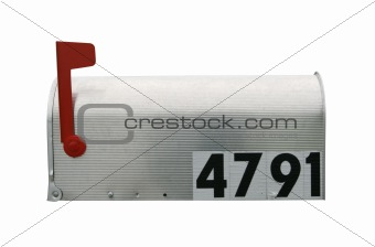 Mailbox isolated on white with path