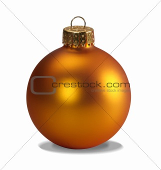 Yellow ornament with clipping path