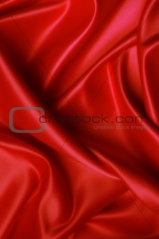Soft red satin