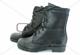 Army boots.