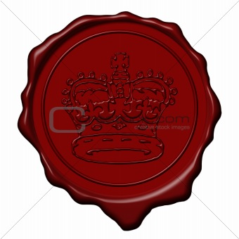 King crown wax seal
