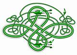 Celtic knot dragon;