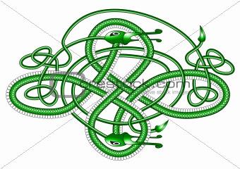 Celtic knot dragon;
