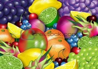 An assortment of healthy fruit