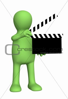 3d person puppet on shootings of film