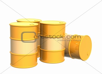 Four tanks of yellow color