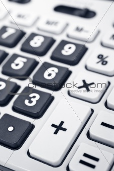 Calculator keyboard detail