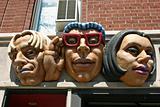 Sculpture of three Heads