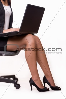 Business woman legs